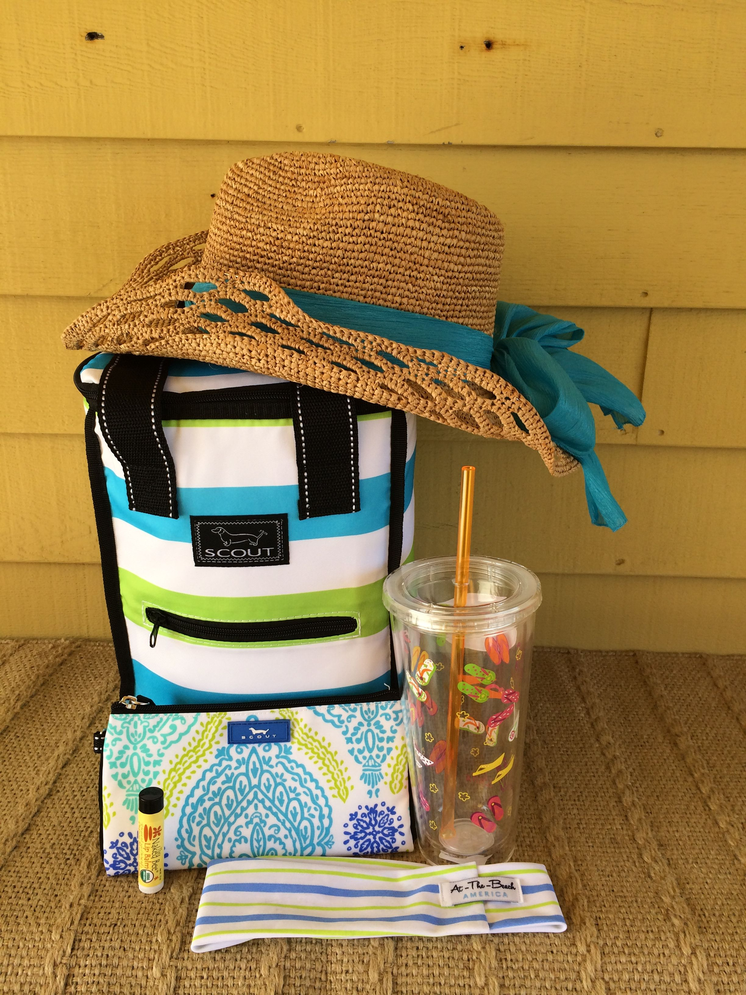 """SCOUT cooler and wristlet, tumblr, """"At the beach America"""