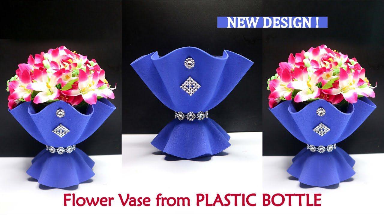 Flower Vase From Plastic Bottle New Design Ide Kreatif Vas Bunga