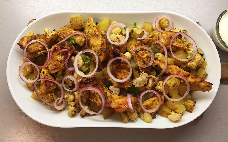 Schnelle Küche: Hähnchen Tikka Masala vom Blech Schnell und einfach ...