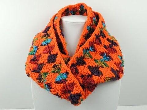 Crochet: Bufanda Infinita en Rombos | Bufandas infinito, Crochet ...