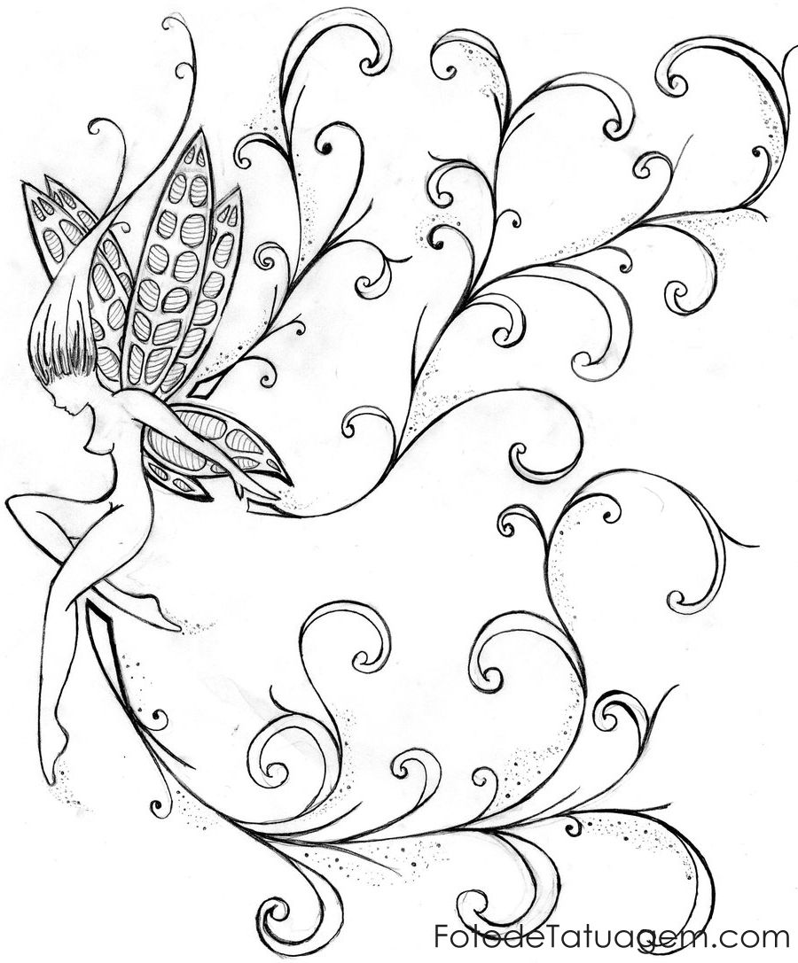 Imagem De Desenhos Para Tatuagem De Fada 39 Tatuagem Fada