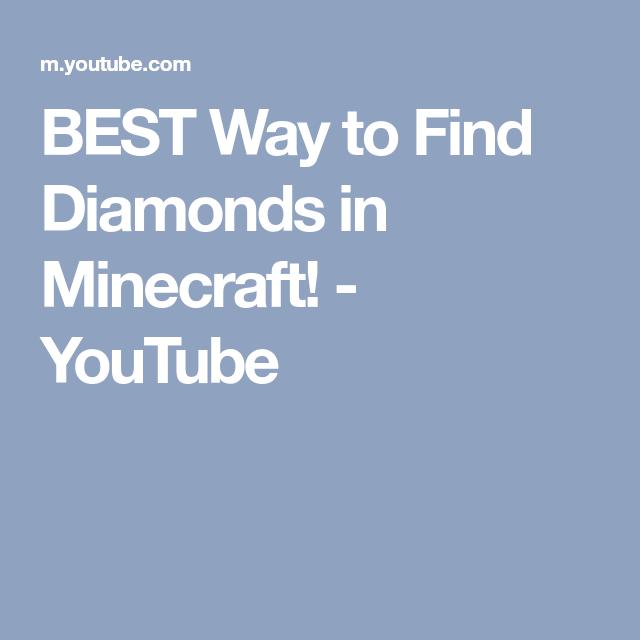 Best way to find diamonds in minecraft youtube minecraft best way to find diamonds in minecraft youtube malvernweather Choice Image
