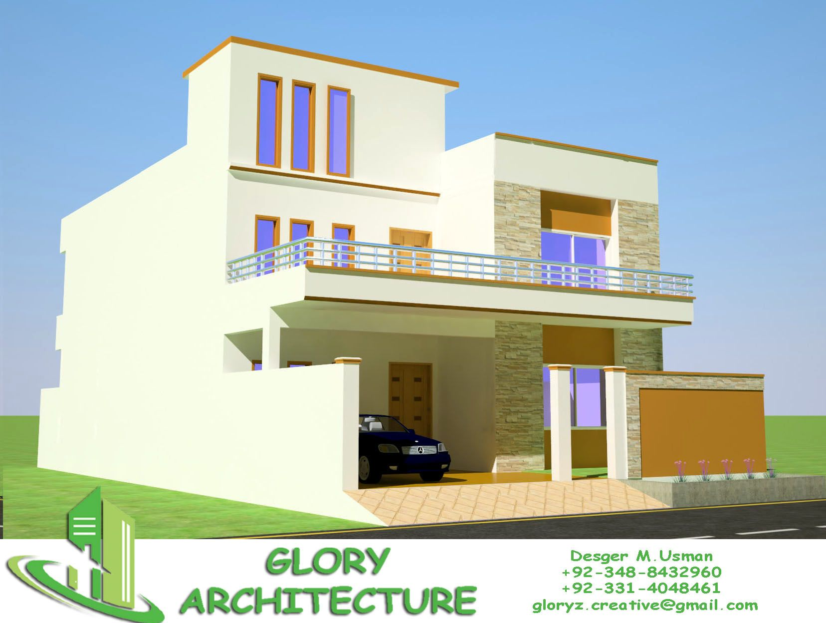 Pin by Muhammad Usman on 30x60 house plan elevation 3d view