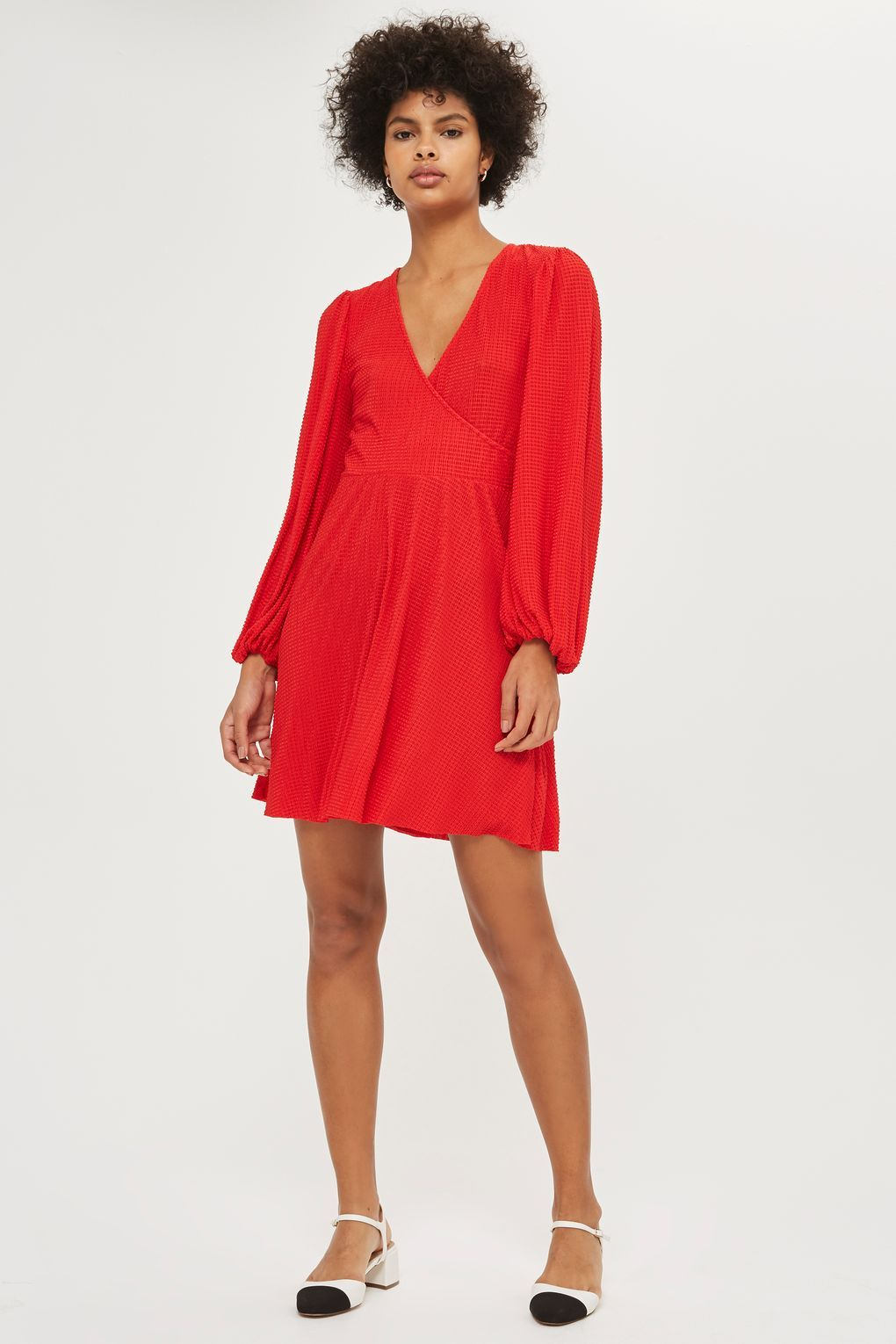 66d1152933e Plisse Wrap Dress - New In Fashion - New In - Topshop Europe