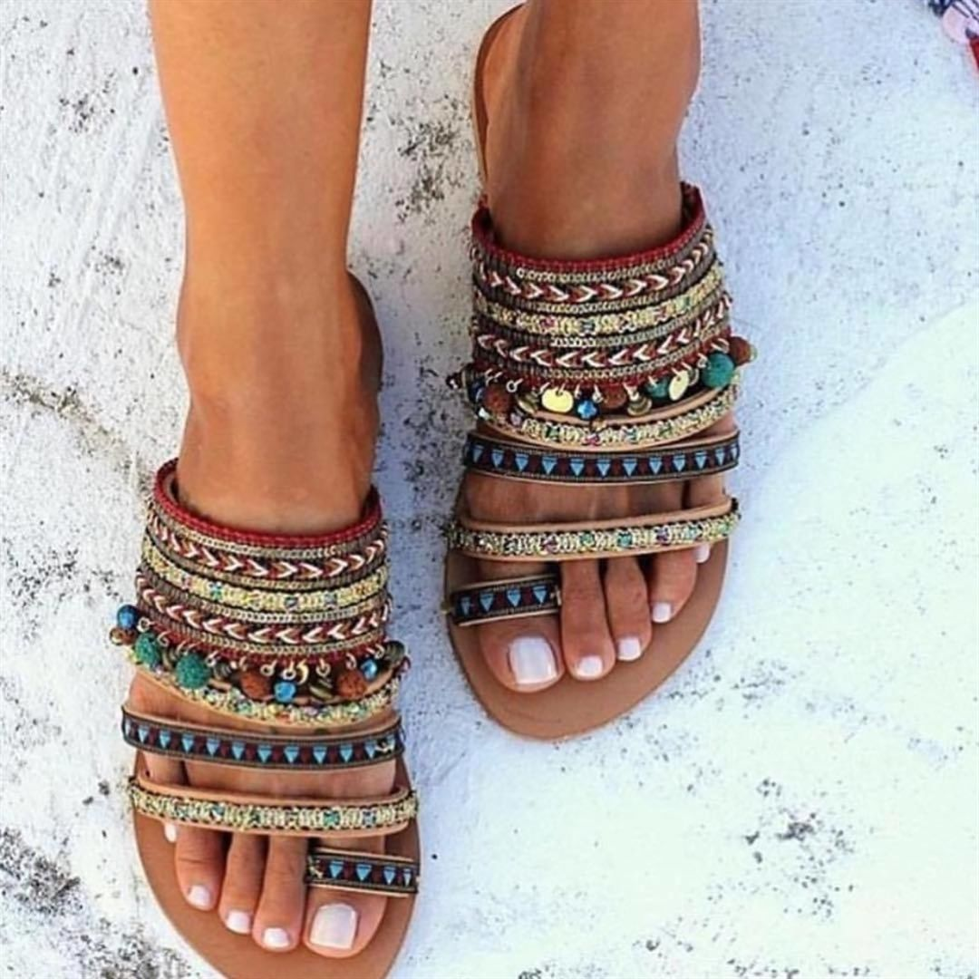 Boho Sandals –  I love these shoes because they're boho and super cute, and ca…