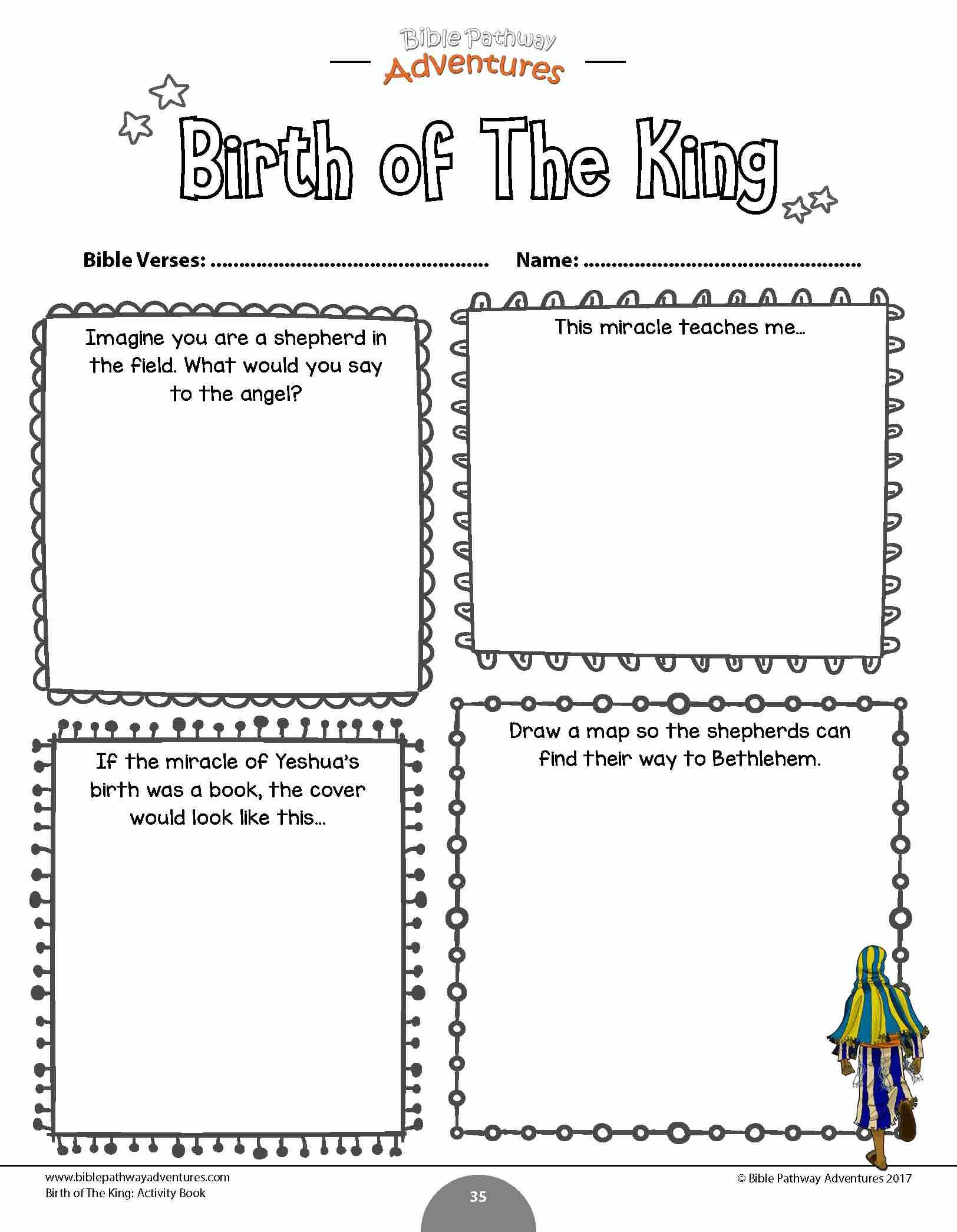 Birth Of The King Activity Book And Lesson Plans Bible Lessons