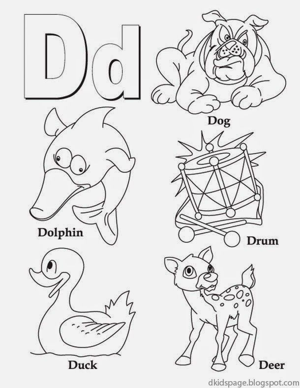 Alphabet Letter D Printable English