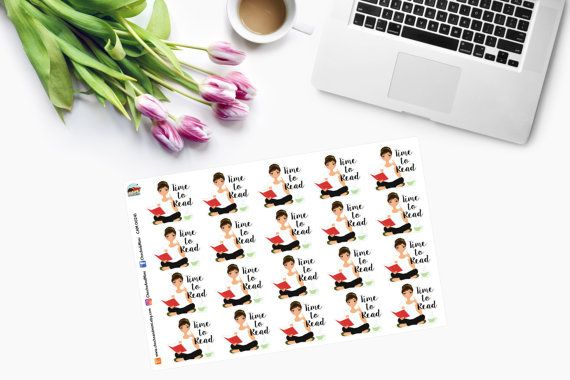 TIME TO READ Planner Stickers CAM00241 by ChochoAndMimi on Etsy