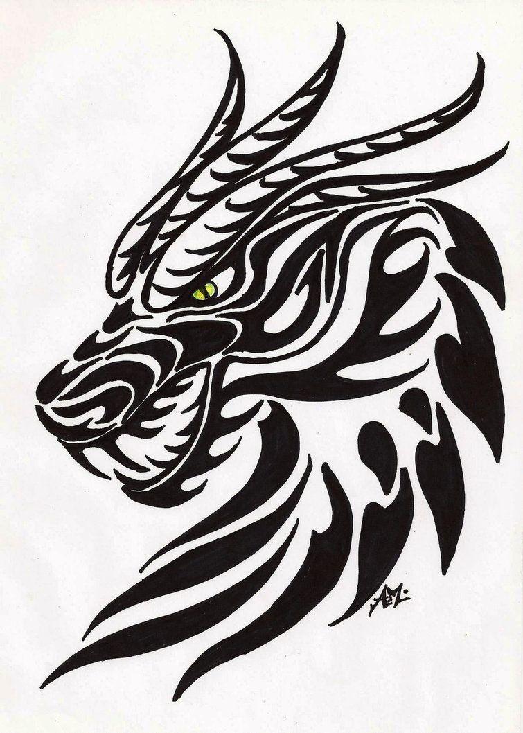 Cabezas De Dragones Para Tatuar belgabad~moonlightdarkangel on deviantart | dragon head