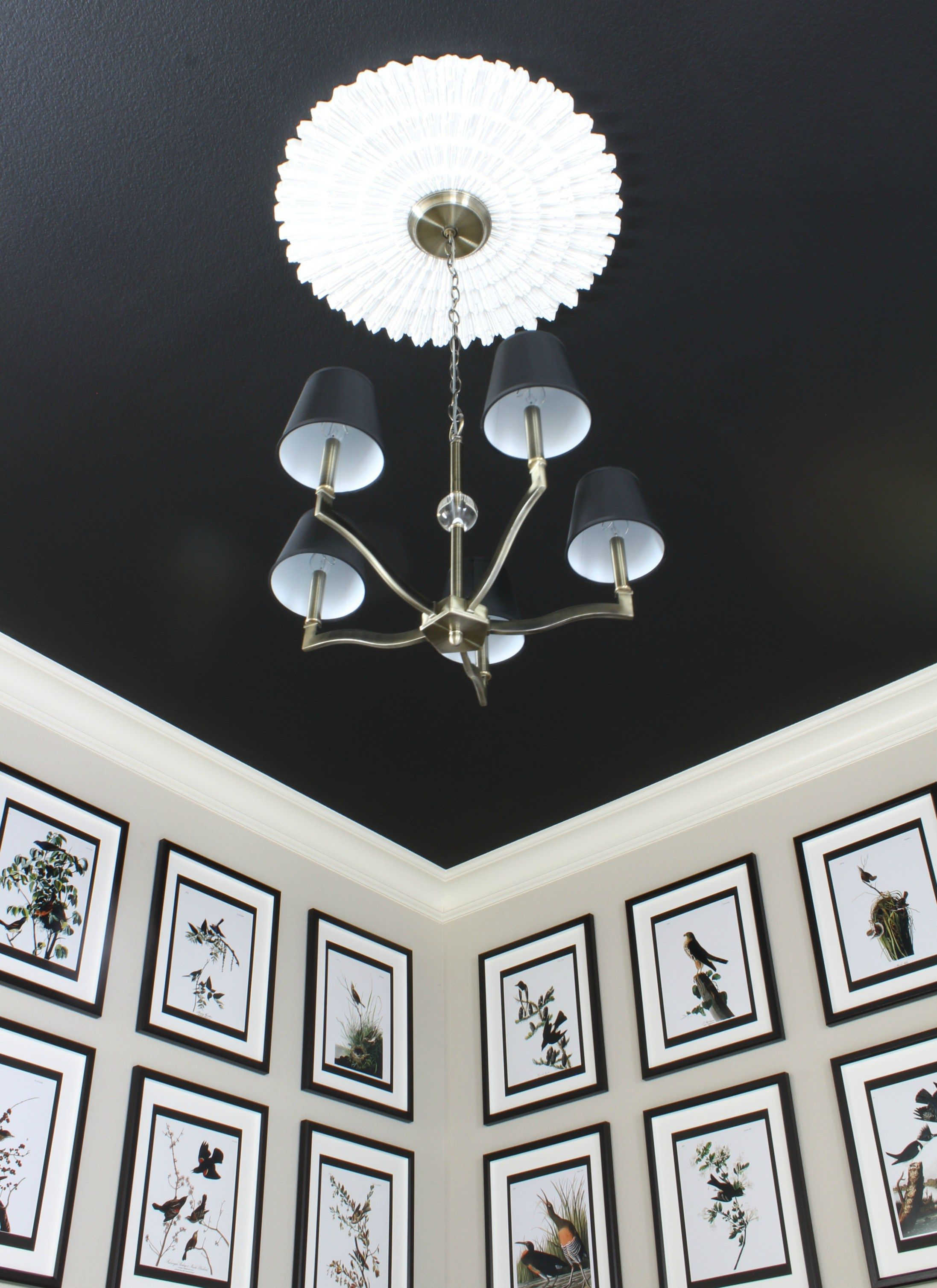 Waverly Aged Brass Chandelier from Lamps Plus paired with a white