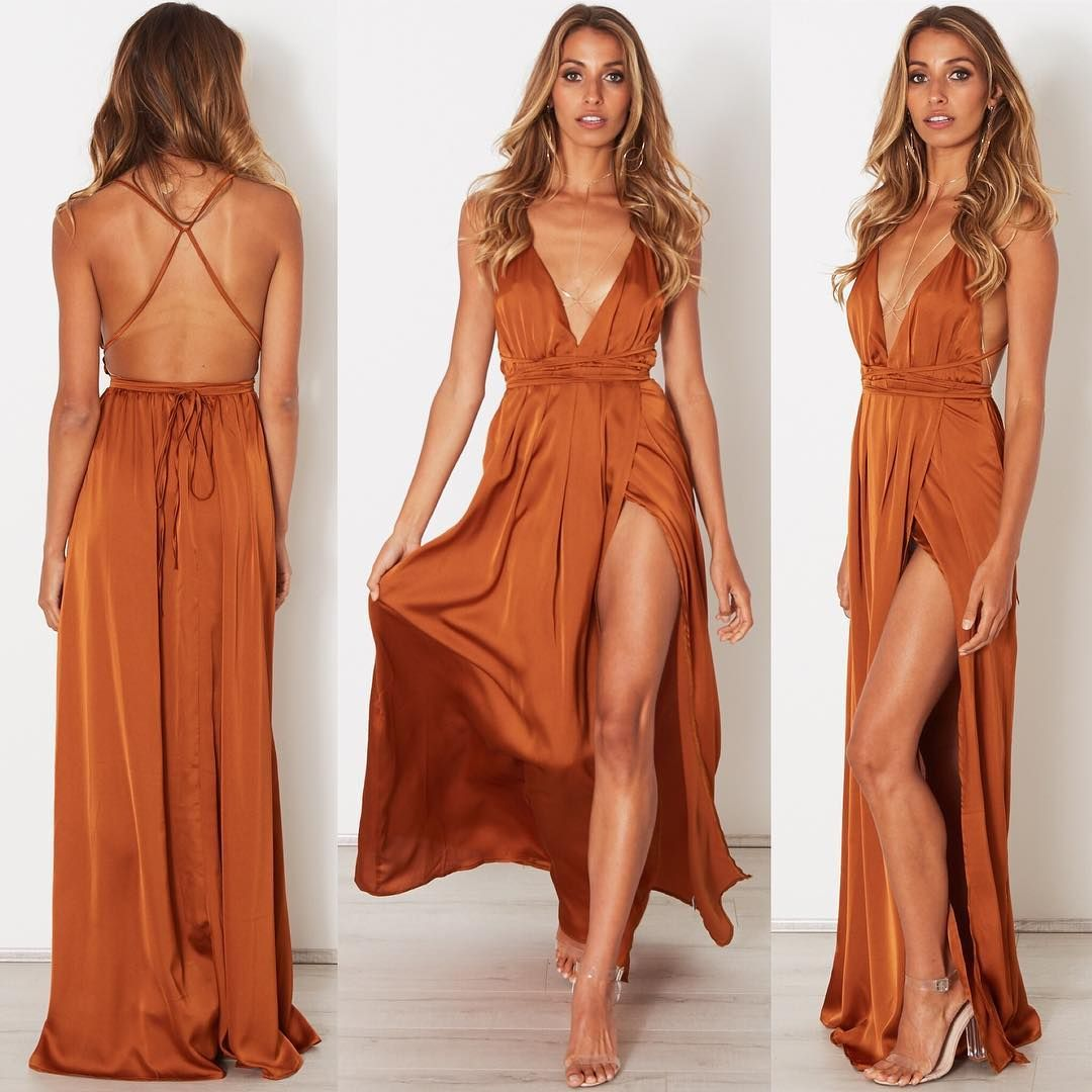360790fc71b Our best selling AKELA Maxi Dress is now available in Rust Shop all colours  at whitefoxboutique.com or click the link in our bio