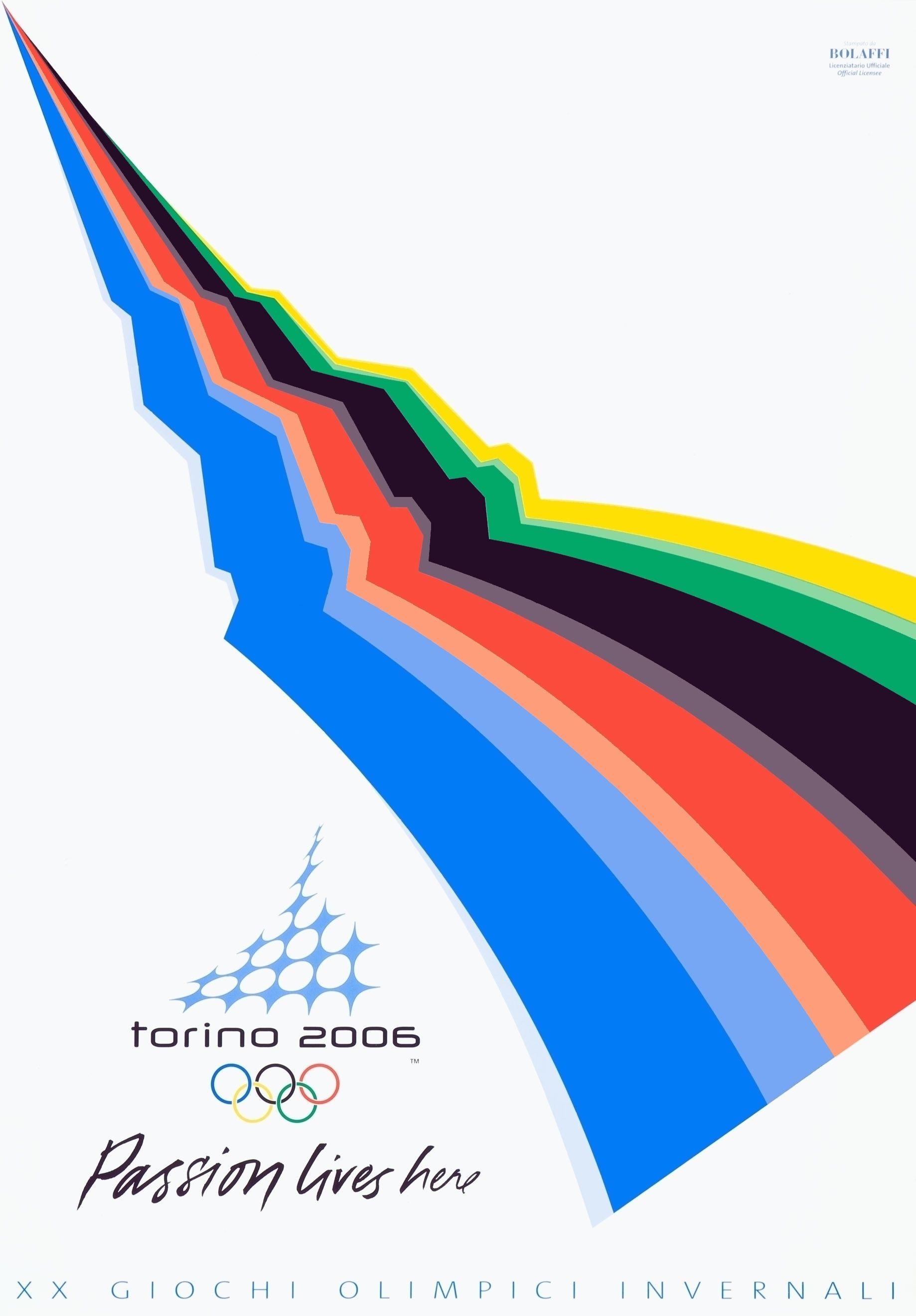 2006 Winter Olympics Poster Turino Italy