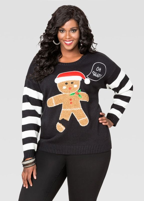f673d3b3a5f 17 Plus Size Ugly Christmas Sweaters That Are Hideously Perfect — PHOTOS