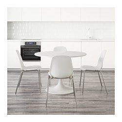 DOCKSTA / LEIFARNE Table and 4 chairs, white, white | Pinterest ...