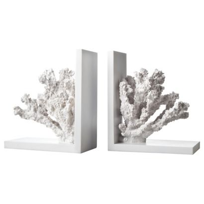 Diy Coral Bookends Bookends Beachy Decor Cute Office Supplies