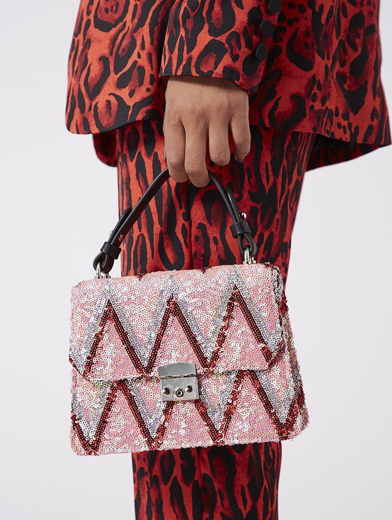 Pink Chevron Terina Tote Bag  8ab72fc6fa690