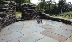 blue stone patio - Patio Stone Ideas With Pictures