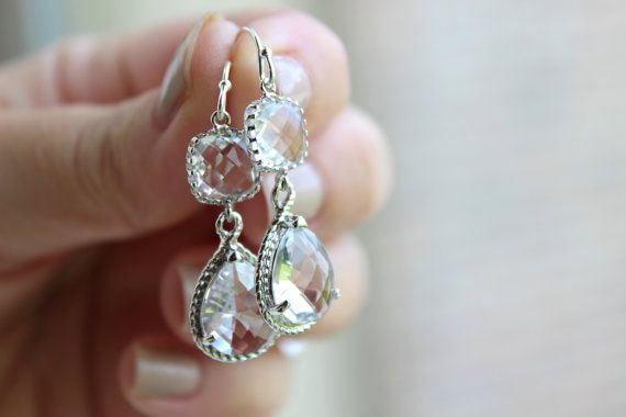 READY TO SHIP 15% Off Set of 7 Wedding Jewelry Crystal by laalee