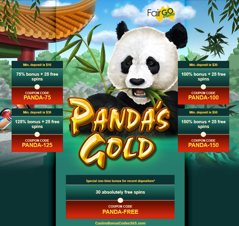 Fair Go Casino New Game Rtg Pandas Gold Bonuses Plus Free Spins