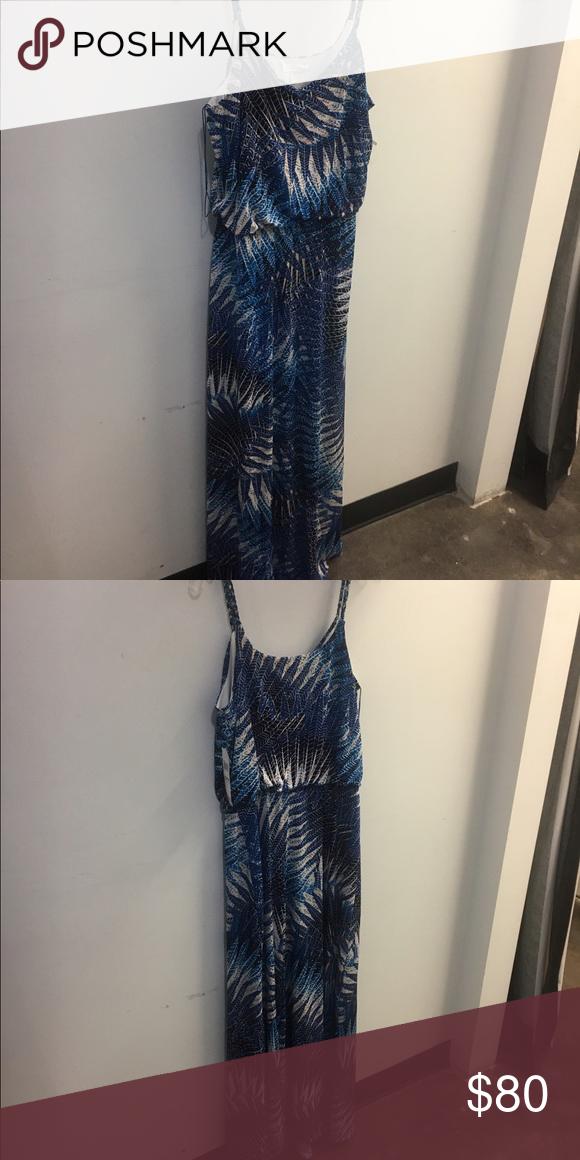 Maxi dress Printed maxi with braided strap London Fog Dresses Maxi