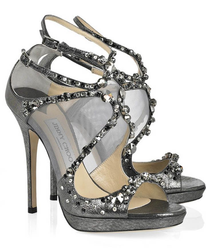 67eb99c2e78 Lovely Silver Studded Heels