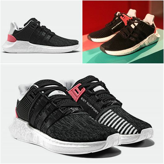 Hot Sale 2017 UK Trainers ADIDAS EQT 91-17 BOOST BB1234 Core Black Turbo Red