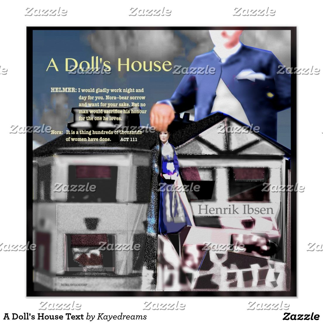 A Doll's House Text Poster House