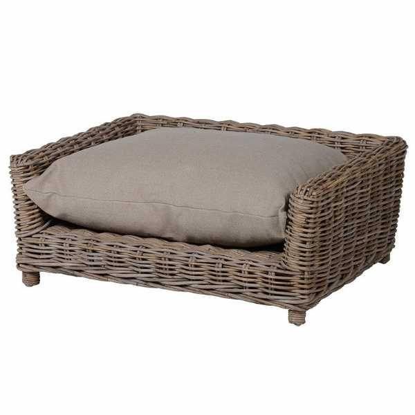 Kuba Large Wicker Dog Basket Traditional Style Hard Wearing Dog Bed Traditional Style Dog Basket Dog Bed