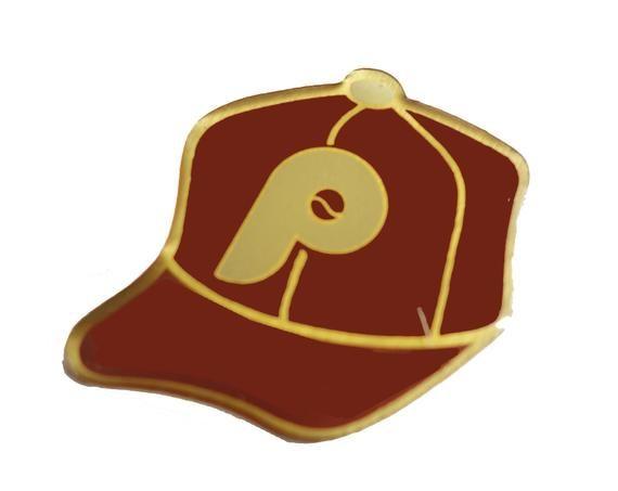 PHILADELPHIA PHILLIES Logo Baseball Cap mlb vintage enamel pin badge