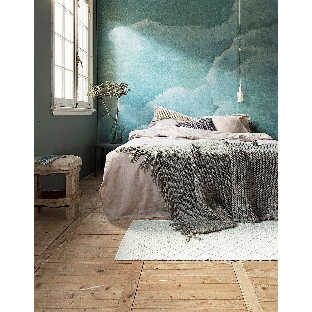 Het cloud behang van vtwonen laat je heerlijk wegdromen mural
