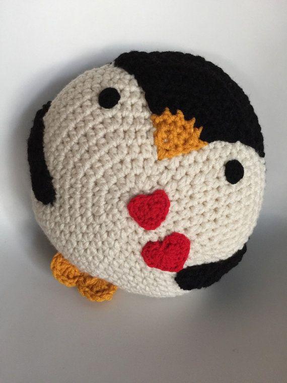 Ser Mi Pingüino De San Valentín Etsy Muñecos De Ganchillo Crochet Almohadones Ganchillo Pingüino