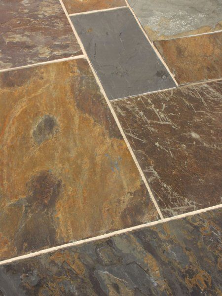 Slate Flooring Saw Porcelain Floor That Is Painted Like Slate At