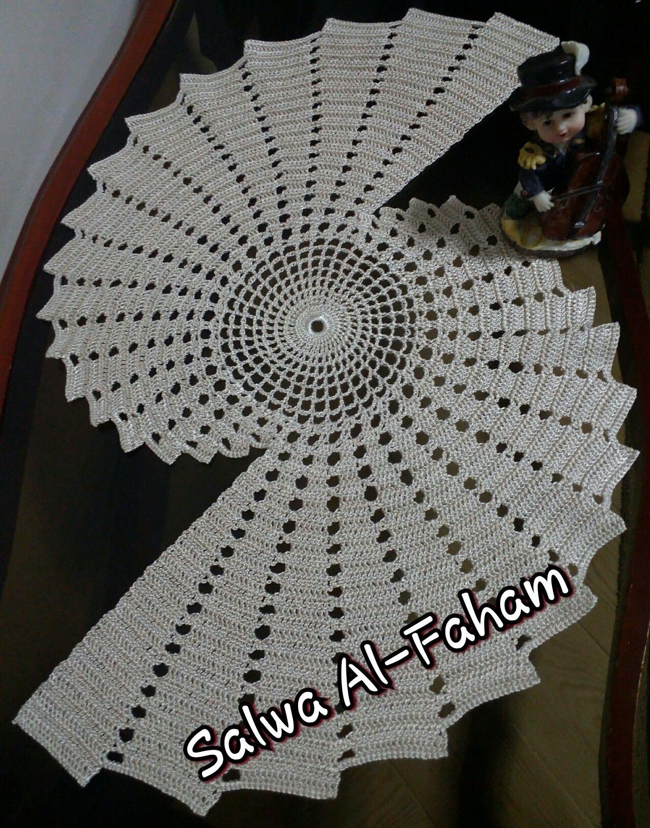 Crochet Doily كروشيه مفرش بخيط الصياد Crochet Doilies Crochet Doilies