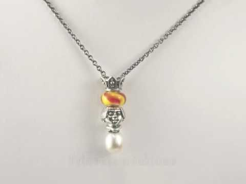 Trollbeads Princess Fantasy Pearl Necklace Design Ideas. Great product but  now retired! FInd it