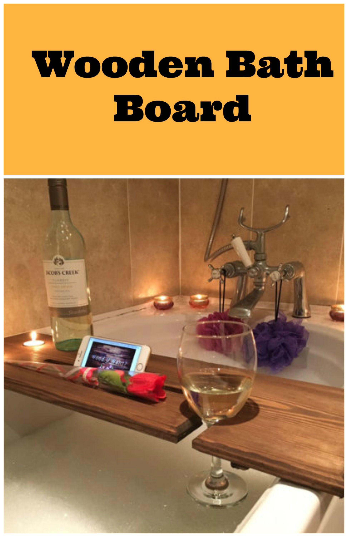 Relaxation Wooden Bath Board, Bath Caddy, Bath Rack. gift idea. aff ...