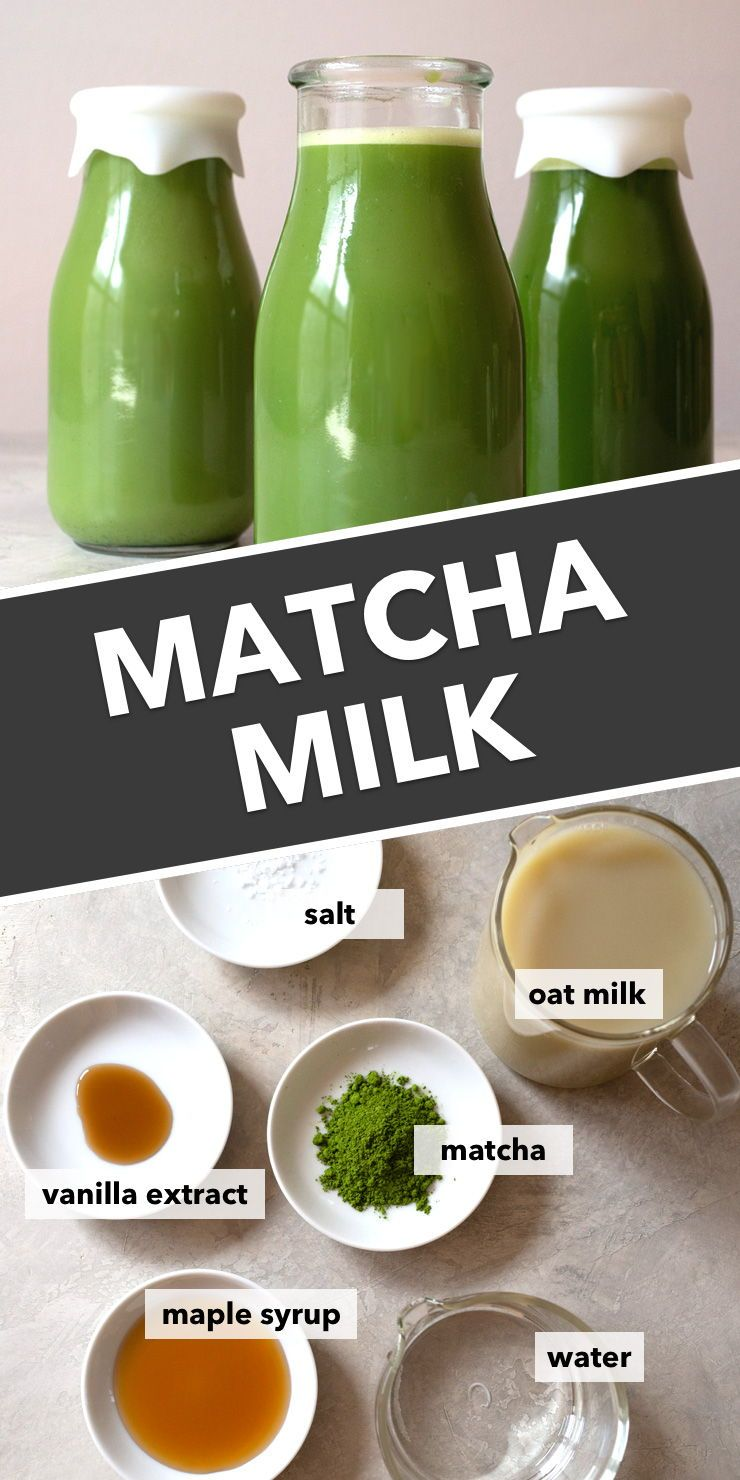 Made with oat milk, this matcha milk recipe is sweet