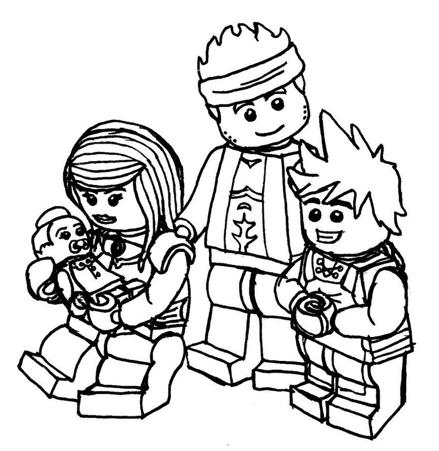 Kai And Family Coloring Pages Ninjago