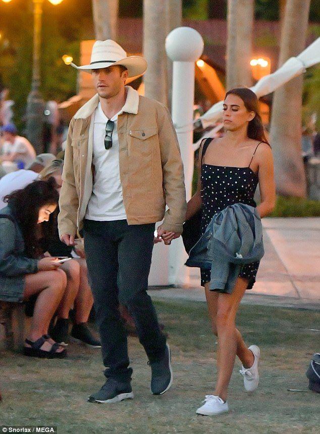 Scott Eastwood Walks Hand In Hand With Maddie Serviente At Coachella