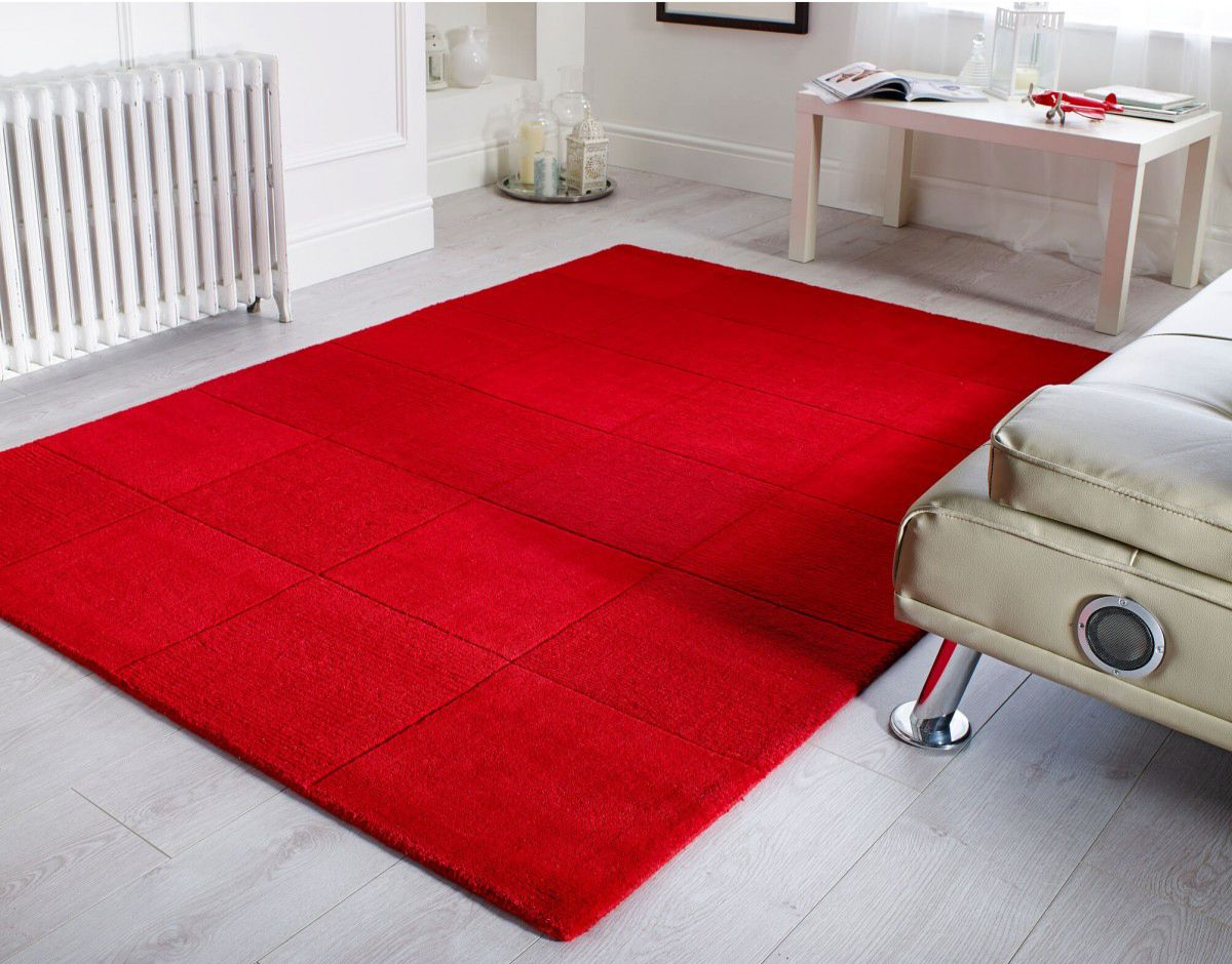 Wool Squares Red Rug Square Rugs