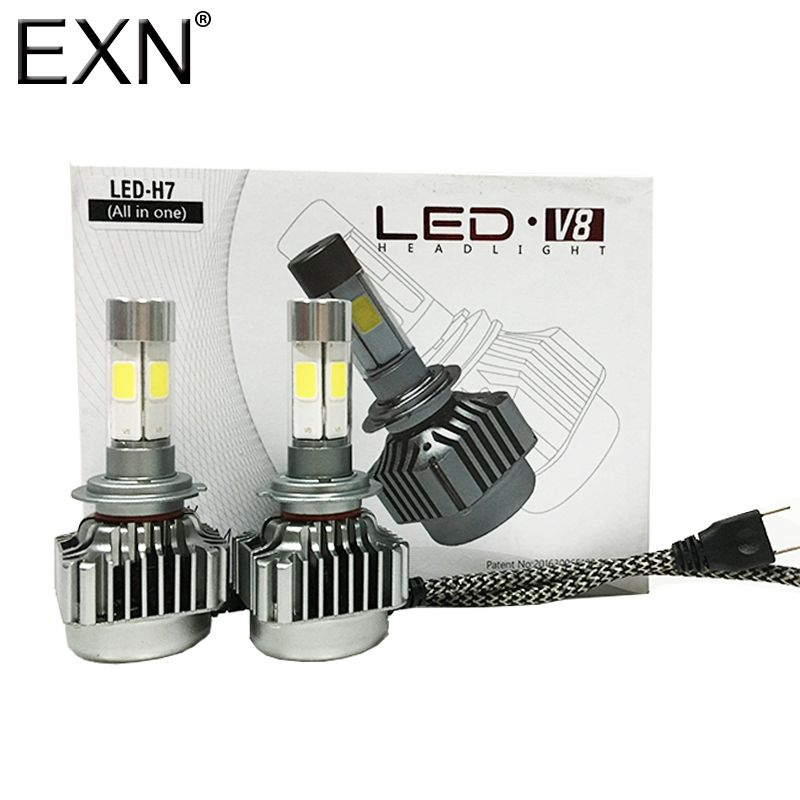 LED 80W H7 Red Two Bulbs Head Light Replacement Motorcycle Bike Upgrade