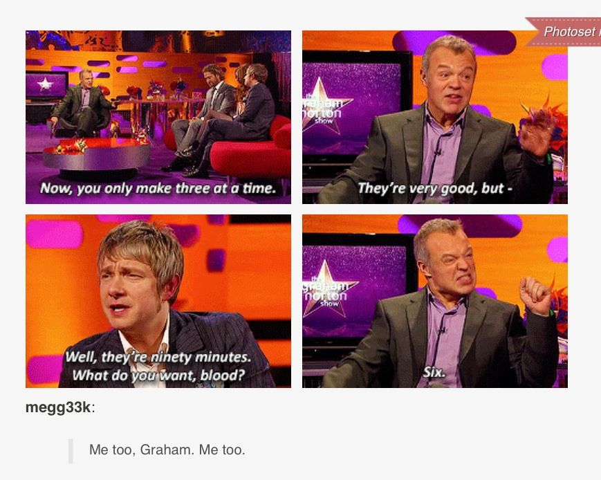 "Haha I love Martin's comment: ""what do you want, blood?"" But I totally agree with Graham."