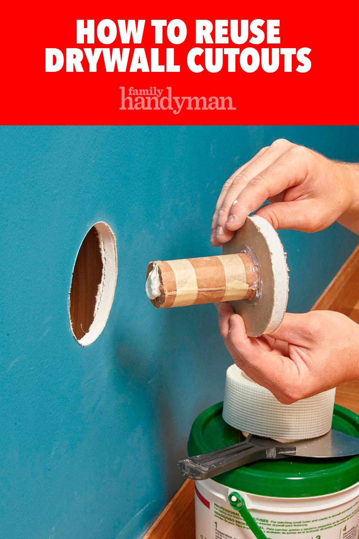 reuse drywall cutouts | new/smart homeowner | diy plaster