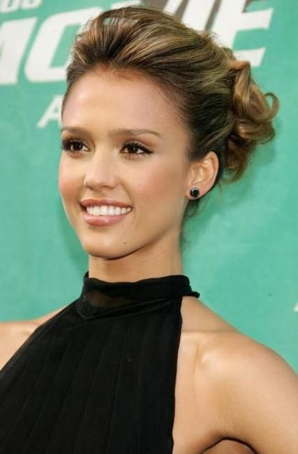 jessica alba updo - Celebrity Hairstyles - Jessica Alba with an Updo ...