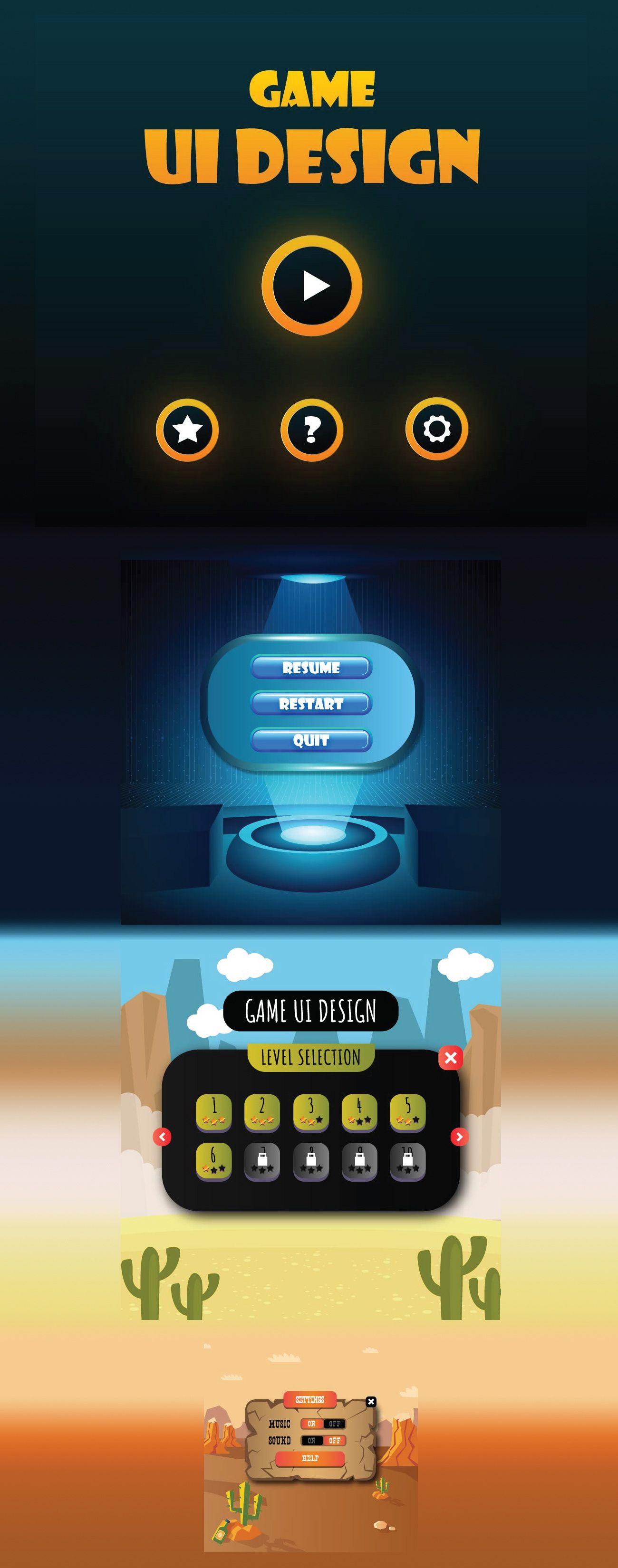 Пин на доске Game UI