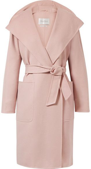 Hooded Wool And Cashmere-blend Coat - Pastel pink Max Mara Where To Buy Cheap Real 810HF