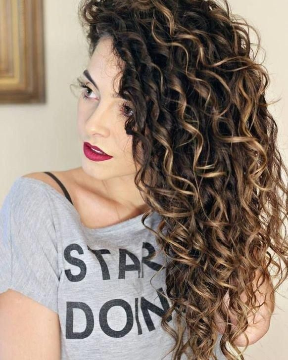 Amazing Ombre Hair Color Ideas46 Brownombrehair Curly Hair Styles Colored Curly Hair Hair Highlights