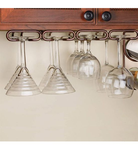 Superior This Large Under Cabinet Stemware Rack Makes It Easy To Store And Organize  Various Stemware Underneath