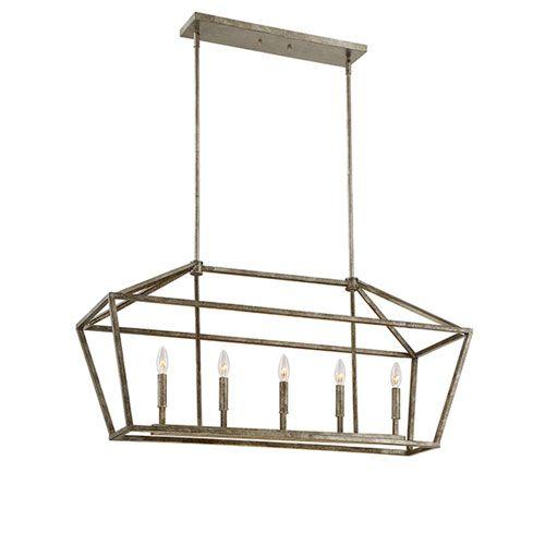 antique silver five light linear pendant millennium lighting linear pendant lighting ceili 290 - Linear Dining Room Light Fixtures