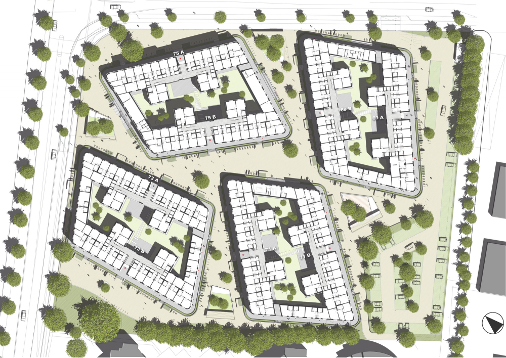 Gallery Of Boeselburg Council And Student Housing Kresings Gmbh 30 Student House Site Plan Student