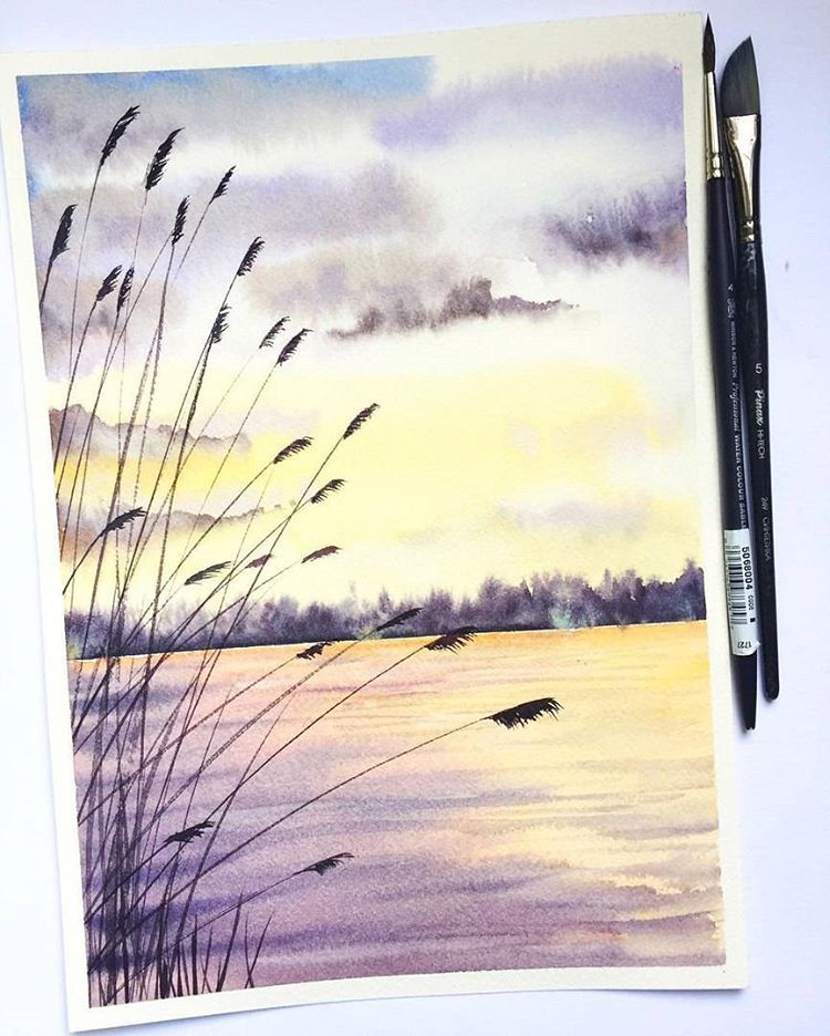 See This Instagram Photo By Watercolor Blog 10 6k Likes Art Painting Landscape Drawings Watercolor Landscape